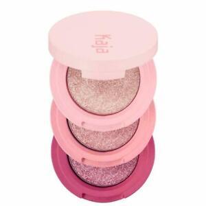 NIB Kaja Beauty Bento Bouncy Shimmer Eyeshadow Trio 01 ROSEWATER