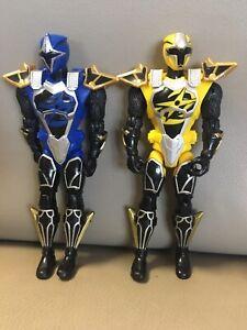 Power Ranger NinJa Steel Yellow &Blue Cockpit Mode 12cm figure and Power Sword