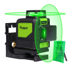 Self-Leveling Green Laser Level - Huepar 902CG Green Beam Cross Line Laser 360°