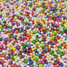 2X Bubble Rainbow Colored Particles Micro Beads Balls Styrofoam Crafts Foam
