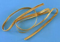Vintage Metallic Gold Elastic for Madame Alexander Cissy Doll Shoes Belts Barbie