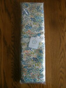 Pottery Barn Peter Rabbit Floral Cotton + Linen Table Runner -Easter, Spring-New