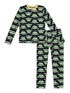 MANDALORIAN BABY YODA Insulating Warm Underwear Pants Top Set Boys 6-7 or 8-10