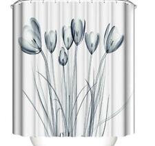 Shower Curtain Hooks Bathroom Bath Shower Bathtub Liner Cover Art Painting Decor