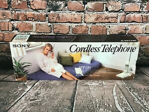 Vintage Sony SPP-110 Cordless Telephone w/ Box - PARTS OR REPAIR