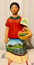 Beautiful Rare Las Marias Woman Statue Red Clay Pottery Tonalá Figure Doll Girl