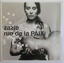 "ZAZIE - CD SINGLE PROMO ""RUE DE LA PAIX"""