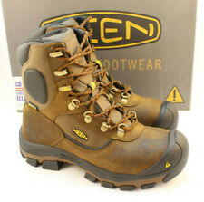KEEN Leavenworth Men's Size 9 D Brown Waterproof Steel Toe Work Boots MSRP $240