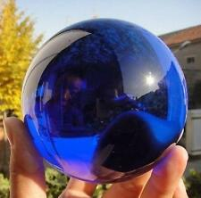 Asian Rare Natural Quartz Blue Magic Crystal Healing Ball Sphere 100MM +Stand
