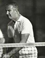 """VICE PRESIDENT SPIRO AGNEW Playing Tennis """"Snarling Attack"""" Orig. Photo 1970's"""