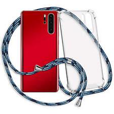 Handykette Hülle Band Neck Case Neck Cover für OnePlus 7 Pro - blau (gestreift)
