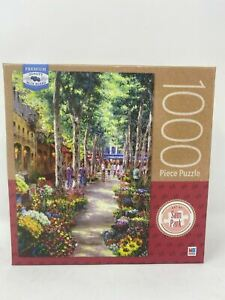 Milton Bradley Sam Park's Nabornne South France 1000 Pieces Puzzle New