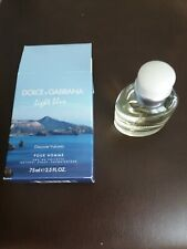 DOLCE&GABBANA LIGHT BLUE POUR HOMME EAU DE TOILETTE 75 ml 2.5 oz NIB