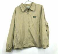 Cutter & Buck Mens XXL Simple Green Branded Full Zip Khaki Work Jacket
