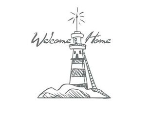 Couture Creations Mini Stamp - Seaside and Me - Welcome Lighthouse Ocean Beach