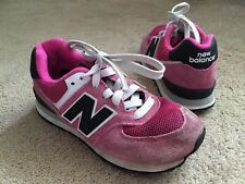 New Balance 574 Pink Suede Trainers Uk Junior Size 12 Good Condition !
