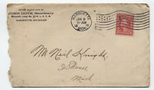 1916 Maruette Michigan flag cancel on Loyal Order of Moose cover [2463.268]