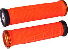 New ODI Elite Flow Lock-On Grips Orange with Orange Clamps