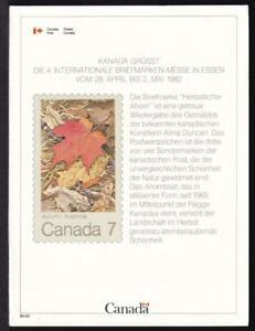 Canada ESSEN 1982, mint International Philatelic Exhibition Card, Unitrade #2