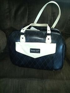 Mary Kay Large Leather Consultant Seller Bag w/ Removable Organizer, loaded.