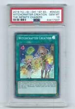 2019 YU-GI-OH! 1ST EDITION WITCHCRAFTER CREATION THE INFINITY CHASERS PAC PSA 10