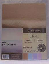 Recollections SERENE 65 lb Cardstock Paper 36 Sheets New