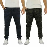 Brave Soul Spike Mens Joggers Camouflage Print Skinny Fit Gym Running Pants