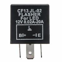 Veicolo Auto 3 Pin LED Svolta Luce Lampeggiante Relè INTERMITTENZA 12V CF13 NERO