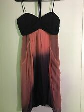 Wish Size 12 Tropical Summer Peach/Pink Halter Women's Cocktail Dress
