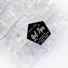 Sofi Art Instant Soft Gel Nail Tips - Stiletto Natural Medium - 504 pcs 10 sizes
