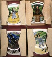 Wizard Of Oz Set Of 4 Collectors Plates Dorothy, Scarecrow, Wizard, and Witch
