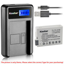 Kastar Battery LCD USB Charger for Canon LP-E8 & Canon EOS 650D Digital SLR