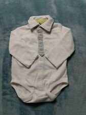 Baby Boy 6 Months Bodysuit Long Sleeve White Collared