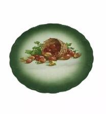 Petrus Regout Maastricht Plate Decorative Fruit Basket Green Vintage Display