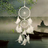 Large Double Ring Feather Handmade Dream Catcher Car Wall Hanging-Decorate