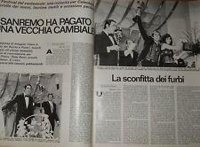 Adriano Celentano Festival di Sanremo - Otto pagine - anno 1970 - rc10