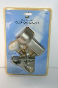 2.5 in. SILVER Clip-On Lamp Portable Light Headboard Laundry Kitchen Shed Tool