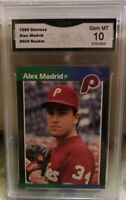 🔥1989 Donruss Alex Madrid #604 Rookie GMA 10 Gem MT No Period After Inc