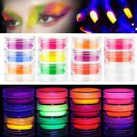 3X Set Glow in the Dark Luminous Nail Art Powder Dust Nail Dipping NEW I2H2