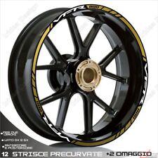 Trims Wheel Stickers Sport Honda VFR 750 800 1200 White Gold