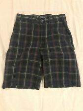 POLO Ralph Lauren CLASSIC PLAID Size youth Boy 14 FLAT FRONT shorts
