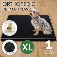 110CM Pet Bed Mattress Memory Foam Dog Bed Cat Cushion Extra Large Black XL