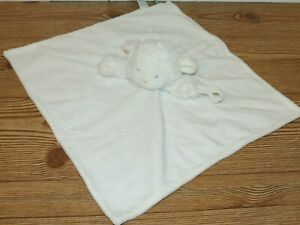 Carters White Lamb Sheep Pacifier Strap Fluffy Plush Security Blanket Lovey Toy