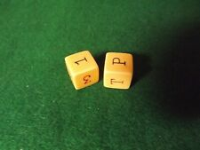 Long Laurence//Lawrence; historic C17th long dice; Put and Take; wooden oak dice