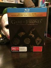 Game Of Thrones Season 3 Exclusive DISC complete set