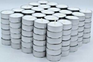 Tea Light Candles 200 Pack 4 hours burn White Unscented
