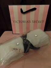 NEW 2015 Victoria's Secret White Infinity Scarf Hat Set Embellished with Bling