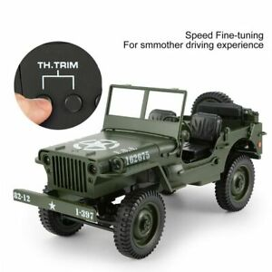 Toy Car Military Model 1:10 Mini Jeep Remote Control Buggy 4WD RC Truck Off-Road