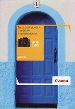 Prospekt 2010 d Canon EOS 550d folleto cámara funda neopreni cámara reflex brochure