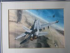 """""""Sting of the Hornet"""" framed and matted art by Mark Waki"""
